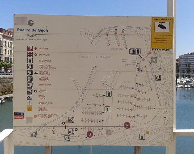 Señalización integral del Puerto de Gijón